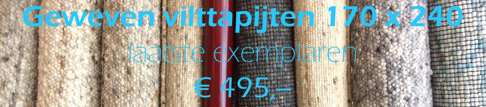 vilt tapijten aanbieding