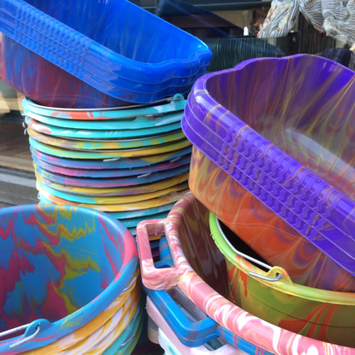 gerecycled plastic uit Senegal